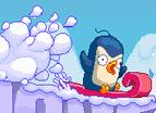 企鵝躲雪崩