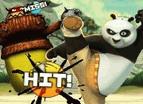 功夫熊貓打木樁